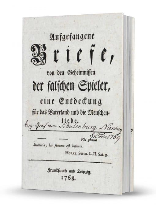 Aufgefangene Briefe, von den Geheimnissen der falschen Spieler, eine Entdeckung fuer das Vaterland un die Menshenliebe PDF