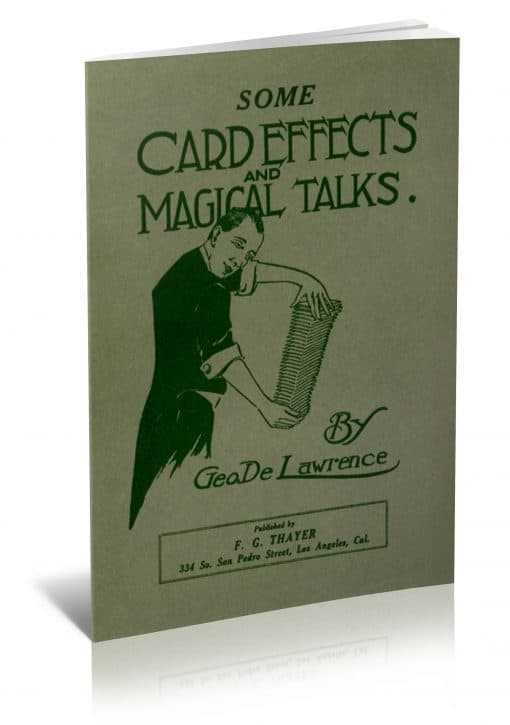 Some Card Effects and Magical Talks by George DeLawrence PDF