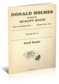 Catalog No. 14: Card Magic by Donald Holmes PDF
