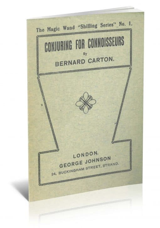 Conjuring for Connoisseurs by Bernard Carton PDF
