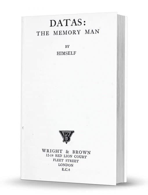 Datas: The Memory Man by Datas PDF