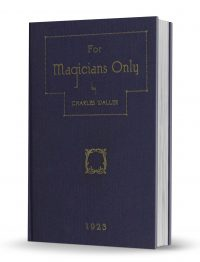 For Magicians Only by Charles Waller PDF