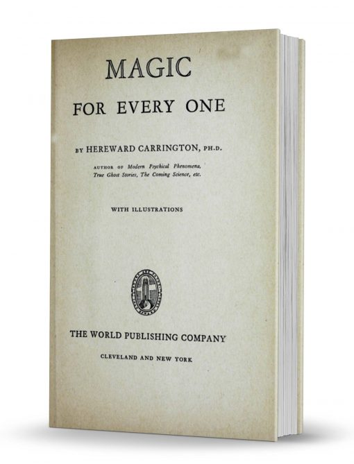 Magic For Everyone by Hereward Carrington PDF