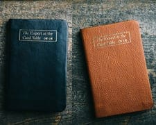 PRIVATE OFFER - Erdnase Bible - Fall Orange/Tan and Black/Blue