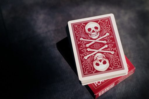 Skull & Bones - Red - Ivory - Dozen